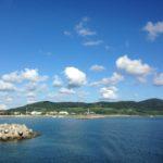 フェリーから見た久米島