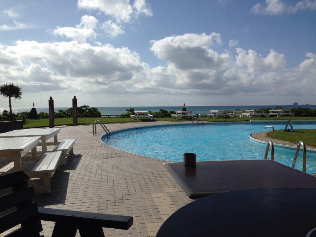 久米島イーフビーチホテルから見た景色