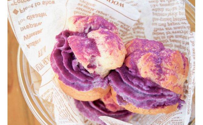 久米島町ふるさと納税返礼品の冷凍紅芋シュークリーム