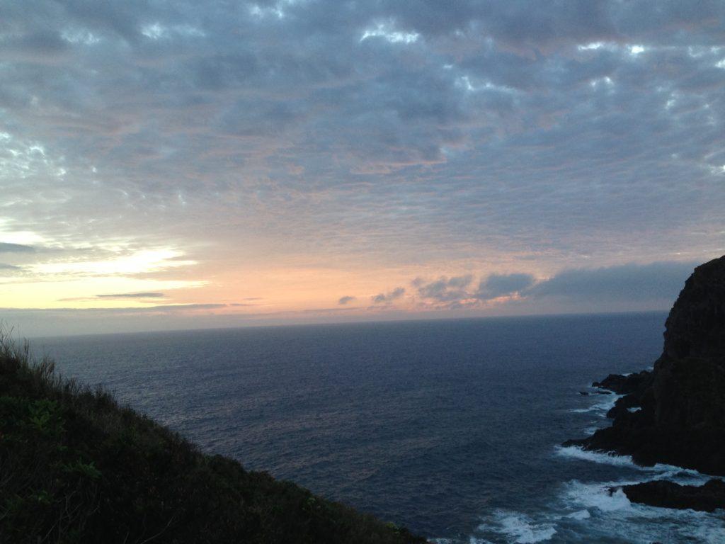 久米島鳥の口からの風景