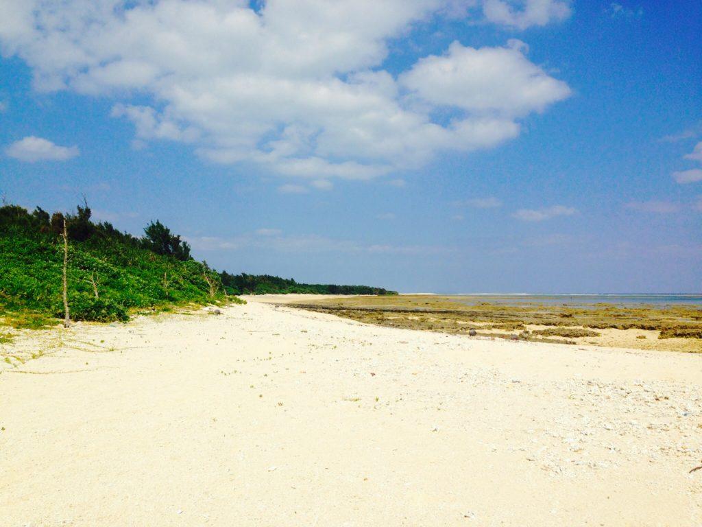 オーハ島の海岸。完全なるプライベートビーチ