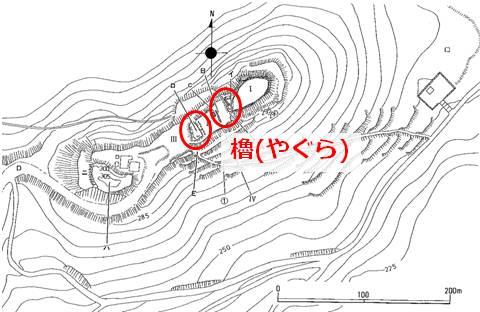 久米島の最高峰に位置する宇江城の縄張図