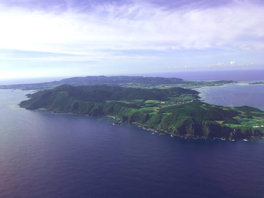 空から見た久米島